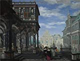 tabletops gallery umbria - Oil Painting 'Dirck Van Delen - An Architectural Fantasy,1634' 24 x 31 inch / 61 x 80 cm , on High Definition HD canvas prints is for Gifts And Bath Room, Dining Room And Home Theater Decoration, home