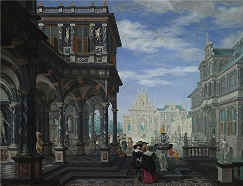Anne Frank Costume Ideas (High Quality Polyster Canvas ,the Vivid Art Decorative Prints On Canvas Of Oil Painting 'Dirck Van Delen An Architectural Fantasy ', 10 X 13 Inch / 25 X 33 Cm Is Best For Laundry Room Decoration And Home Gallery Art And Gifts)