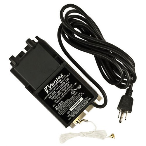 Ventex VT12030-120 - Indoor Neon Transformer - Generation III - 100 to 12,000 Volt - 30 mA - 120 Volt Input - Pull Chain Switch