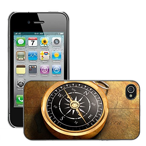 Premio Sottile Slim Cassa Custodia Case Cover Shell // V00001981 Compass Map // Apple iPhone 4 4S 4G