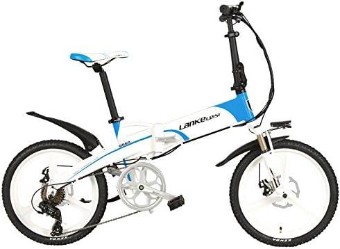 LANKELEISI G660 Elite 20 Pulgadas Bicicleta eléctrica Plegable ...