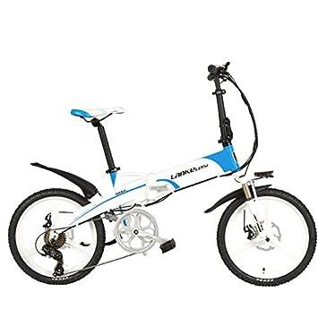 LANKELEISI G660 Elite 20 pulgadas bicicleta eléctrica plegable, batería de litio 48V 10Ah, marco