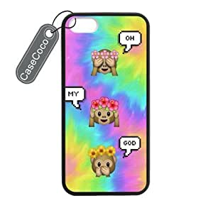 Emojis Monkey Custom Hard Plastic & Rubber Case for iphone 6 4.7 - iphone 6 4.7 Case Cover