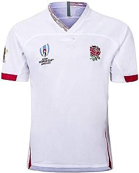 Aitry Camiseta de Rugby, Copa del Mundo, Inglaterra Camisetas caseras para fanáticos del fútbol Entrenamiento de fútbol Textiles Transpirables de Manga Corta: Amazon.es: Deportes y aire libre