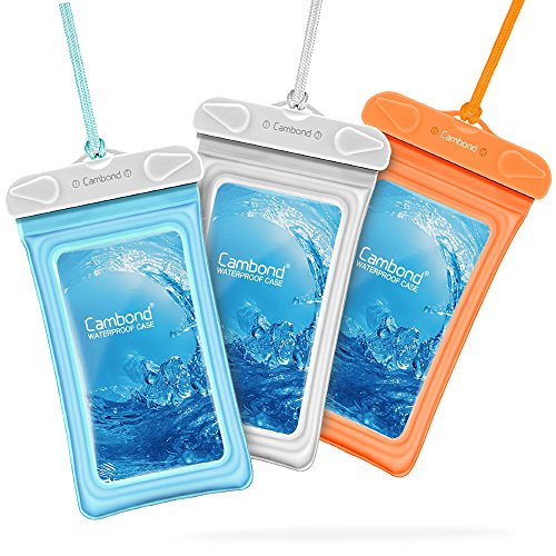 Waterproof Case for Phone w/ Lanyard, 3 pack