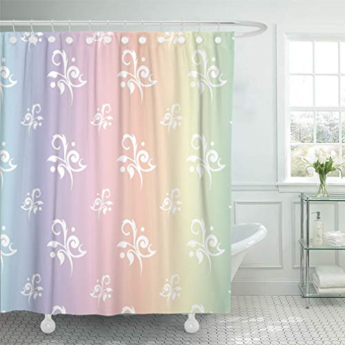 Toile Green Baby Accessories - Emvency Shower Curtain Sets Waterproof 72