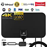 TV Antenna, Topnow Amplified Indoor HDTV Antenna 120 Mile Range with Detachable Amplifier