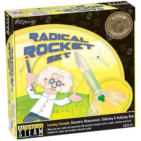 ScienceLAB STEAM Science Radical Water Rocket Launch Set w/Study Guide