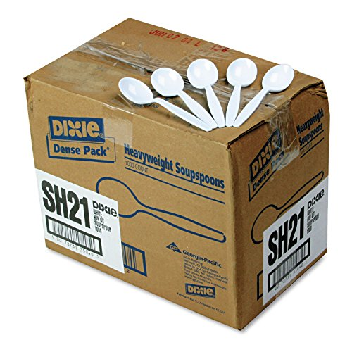 Dixie SH217 Heavy Weight Polystyrene Soup Spoon, 5.75
