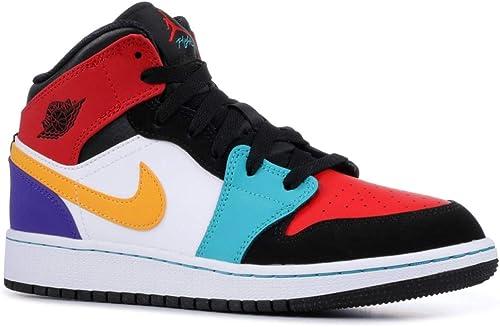 nike air jordan 1 mid gs scarpe da fitness bambino amazon it scarpe e borse nike air jordan 1 mid gs scarpe da fitness bambino