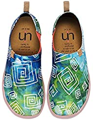 UIN Womens Love In Spring Canvas Loafer Shoe Green