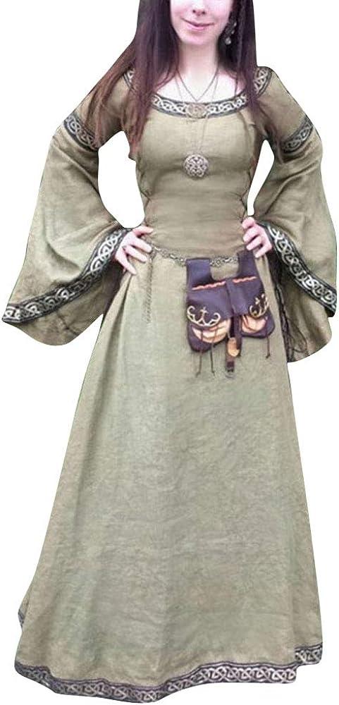 ZhuiKunA Trajes Medievales Mujer, Victoriano Renacentista Vestido ...