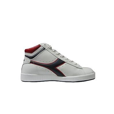 Diadora - Diadora game higt jr scarpe bambino bianche pelle - Bianco ... cc046d725a4