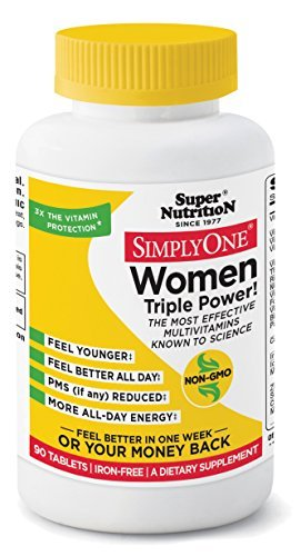 Simply One Women Iron Free Super Nutrition 90 Tabs by SuperNutrition (Super Nutrition For Women)