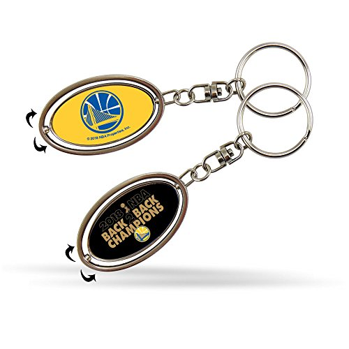 Rico Industries, Inc. Golden State Warriors 2018 Champions 2-sided Spinner Keychain Oval Metal ()