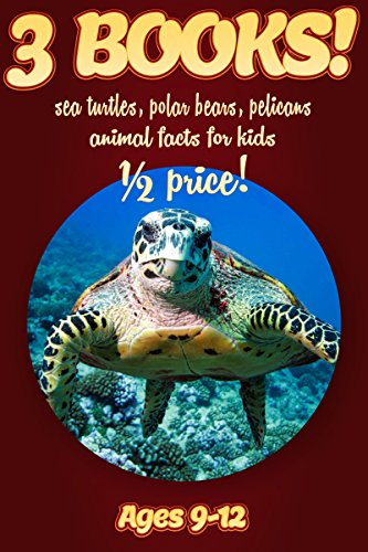(1/2 Price: 3 Bundled Books: Sea Turtle, Polar Bear, & Pelican Facts For Kids Ages 9-12: Amazing Animal Facts With Large Size Pictures: Clouducated Red Series Nonfiction For Kids)