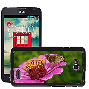 Super Stella Slim PC Hard Case Cover Skin Armor Shell Protection // M00104004 Flower Zinnia Moth Insect Bug // LG Optimus L70 MS323