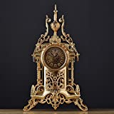 TOYM US European-style retro clock Antique clocks Living room metal table clock