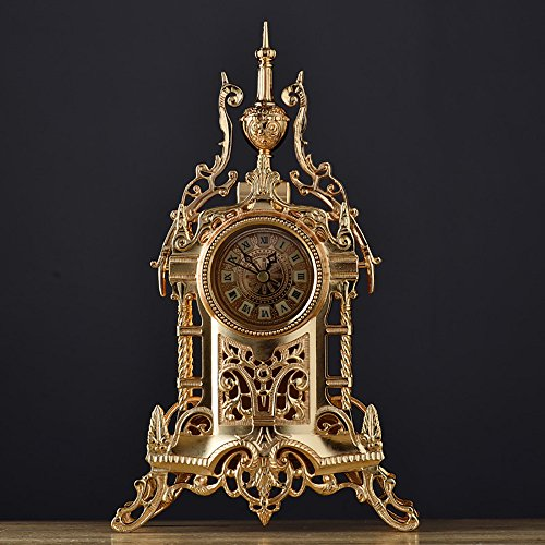 TOYM US European-style retro clock Antique clocks Living room metal table clock by Table Clock