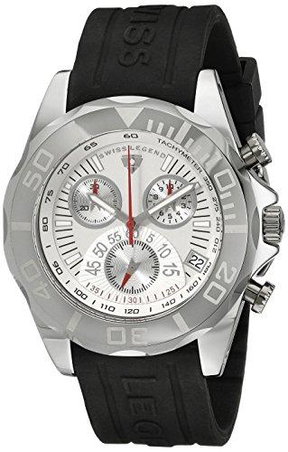 Swiss Legend Men s 18010-02 Tungsten Chronograph Silver Dial Watch