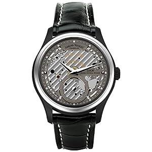Armand Nicolet Hombre Reloj Mecánico con Esfera Gris Pantalla analógica y Negro Correa de Piel a750ana-gr-p713nr2 6