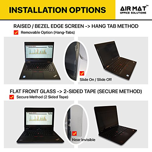 13.3 Inch Privacy Screen Filter for Widescreen Laptop/Notebook, Tablet (16:9 Aspect Ratio). Best as Anti Glare Protector Film for data confidentiality - compare to 3M (13.3W9) by Air Mat (Image #2)