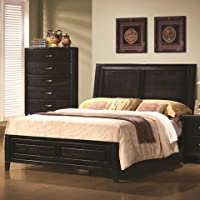 Coaster Nacey King Contemporary Bed in Dark Brown