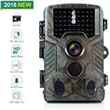 FLAGPOWER Hunting Trail Camera, 16MP 1080P 0.2s Trigger Time Wildlife Game Camera with 2.4 LCD 850nm Upgrading IR LEDs Night Vision up to 75ft/2.3m IP56 Spray Water Protected Design