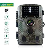 FLAGPOWER Hunting Trail Camera, 16MP 1080P 0.2s Trigger Time Wildlife Game Camera with 2.4'' LCD 850nm Upgrading IR LEDs Night Vision up to 75ft/2.3m IP56 Spray Water Protected Design