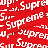 Juseko Supreme BOX Logo Sticker Large Size 7.48 2.16 IPad MacBook Motorcycle Luggage Skateboard Decal 1Pcs