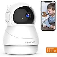 APEMAN WiFi Camera 1080P Home Security Camera Wireless Indoor Surveillance Camera Pet/Baby Monitor 2-Way Audio Motion Detection Night Vision Pan/Tilt/Zoom