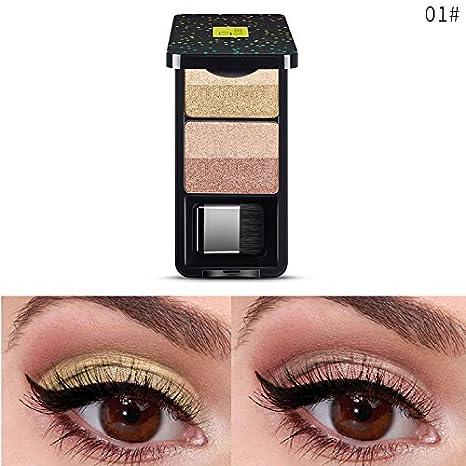 4 colores Mini sombras de ojos con textura paleta frente a mate maquillaje sombra de ojos sombra Cosmeticos Maquillaje Mate Crema Paleta de Colores ...