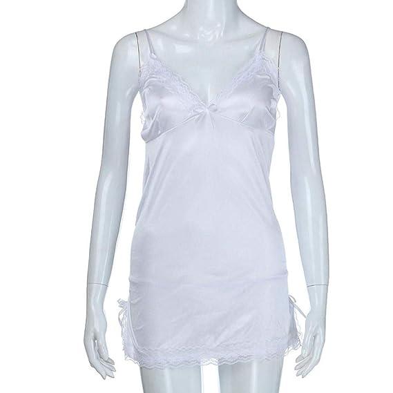 Bonkkara Lencería para Mujeres, Moda Cómoda Dama más tamaño Encaje de Encaje Babydoll Lencería Ropa