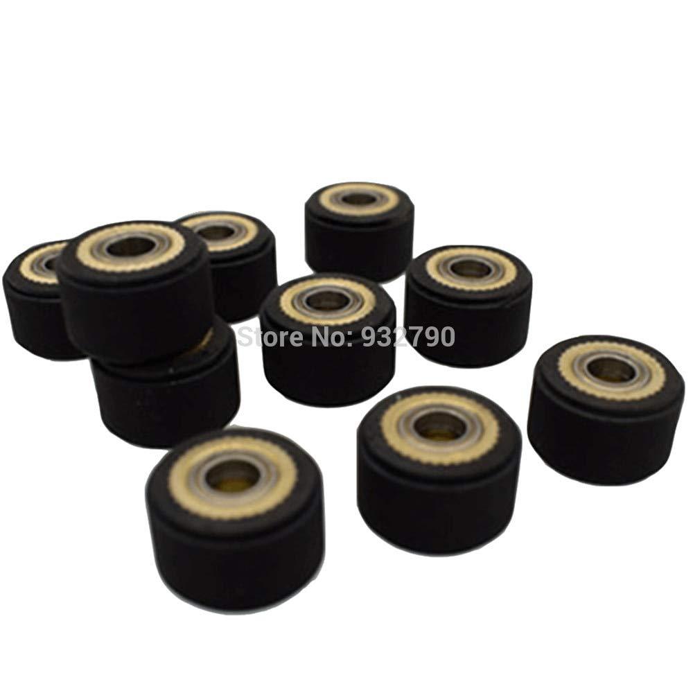 Meka-supplies - 1/2/3/4/5/6pcs 4x10x16mm/5x11x16mm/4x10x14mm/3x11x16mm/4x11x16mm/5x10x16mm Pinch Roller for Roland Vinyl Plotter Cutter Cutting