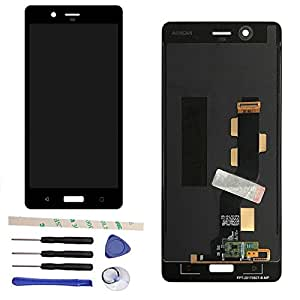 "LCD Display Touch Screen Digitizer Assembly For Nokia 8 N8 TA-1012 5.3""(black)"
