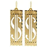 """.75 X 2.75"""" Vintage 1980'S Dollar Sign Earrings, in Gold Tone"""
