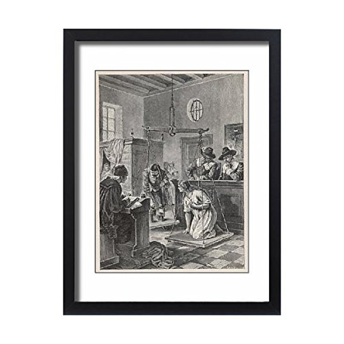 Framed 24X18 Print Of Dutch Witch Trial C17 (596225) by Prints Prints Prints