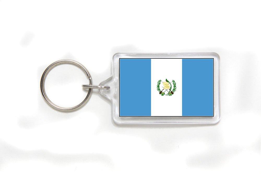 Guatemala Guatemalan Flag Double Sided Acrylic Key Ring Small