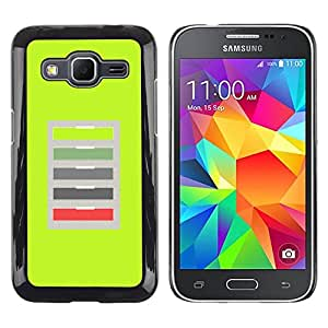LECELL--Funda protectora / Cubierta / Piel For Samsung Galaxy Core Prime SM-G360 -- Green Office Abstract Pattern --