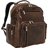 Piel Leather Vintage Travel Backpack, Vintage Brown, One Size
