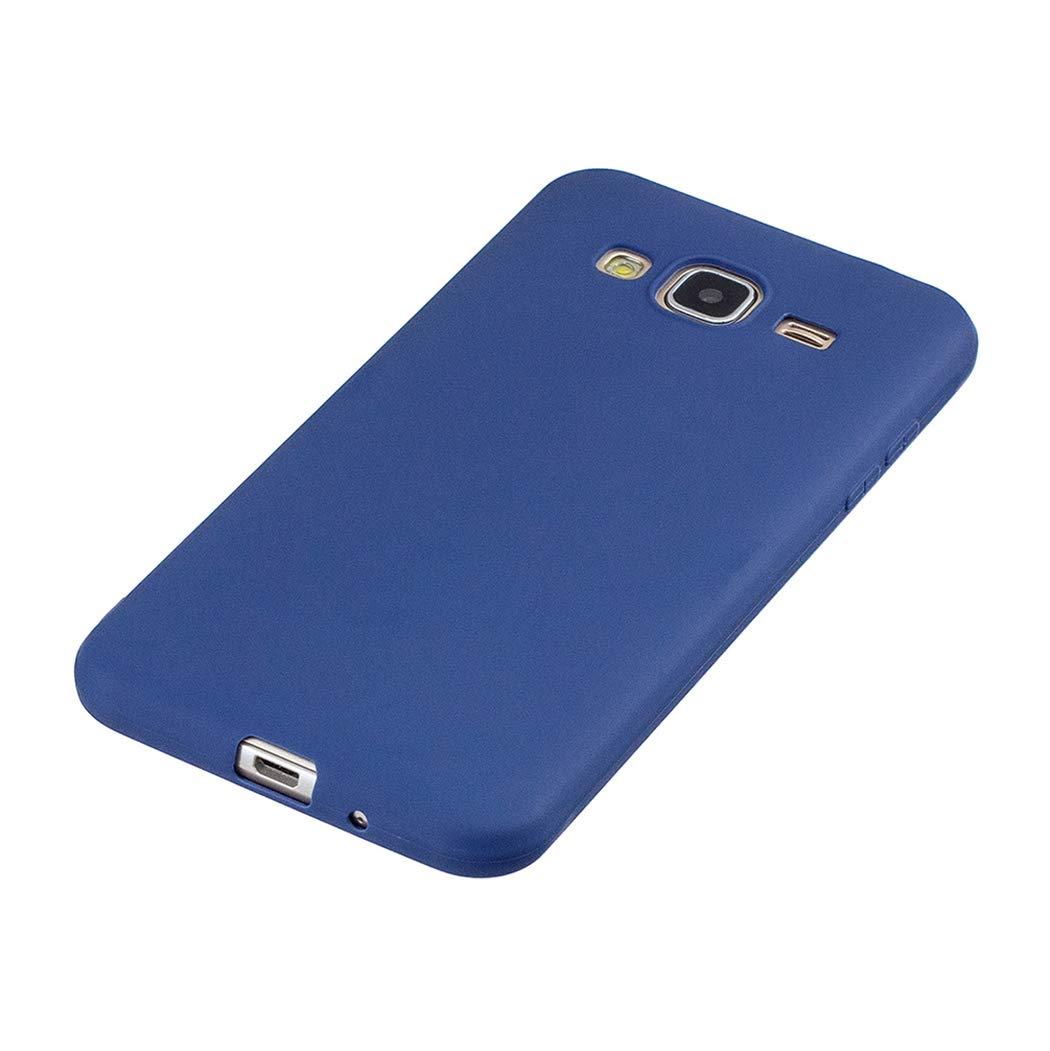EuCase 5X Coque pour Samsung J5 2016 Silicone Housse Etui Samsung J5 2016//J510 Antichoc Ultra Mince Fine Souple TPU Gel Flexible Couverture Protection Bumper Case Cover Noir Rouge Jaune