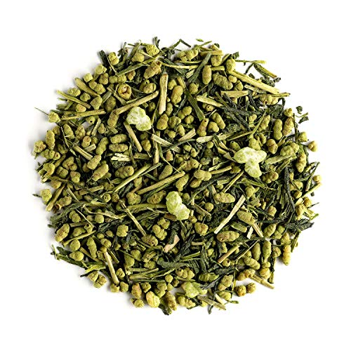 Genmaicha Roasted Rice Japanese Tea - Green Genmai Cha with Matcha directly from Japan - Toasted Brown Rice Loose-leaf Popcorn Tea 100g 3,52 Ounce