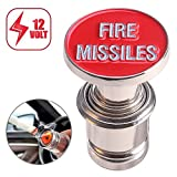 DEALIKEE Car Cigarette Lighter Replacement, Fire Missiles Button 12V Accessory Push Button Fits Most Automotive Vehicles (Red)