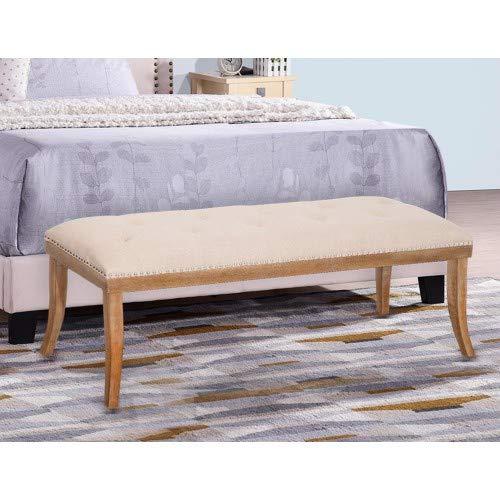 Amazon.com: Merax Heyward Upholstered Button Tufted Bench