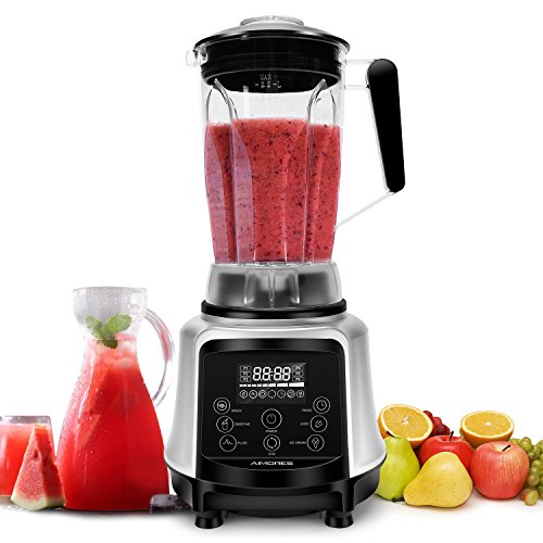 AIMORES Commercial Blender, Pre-Programmed for Smoothie,