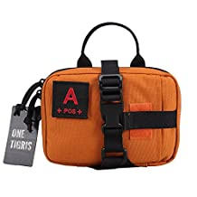 OneTigris Military Tactical MOLLE Quick Detach EMT/First Aid Pouch (Orange - A Type)