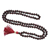 Yoga Necklace - Choclate Brown Bhuddist Beads Necklace Prayer Mala Meditation Japamala