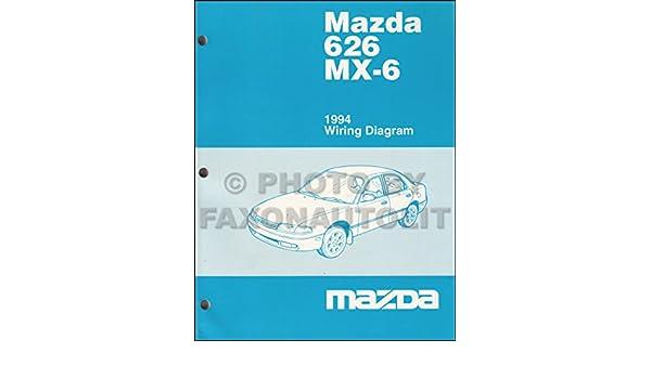 mazda 626 mx-6 1994 wiring diagram-- o e m part #9999-95-021g-94: mazda:  amazon com: books