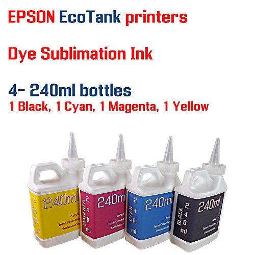 Dye Sublimation Ink 4 Multi Color 240ml bottles - EcoTank ET-2500, ET-2550 by Try The Ink