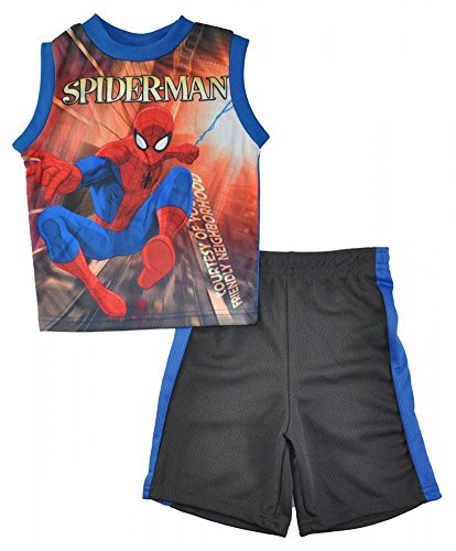 spider-man+tank+tops Products : Marvel Little Boys Tank Top 2pc Short Set